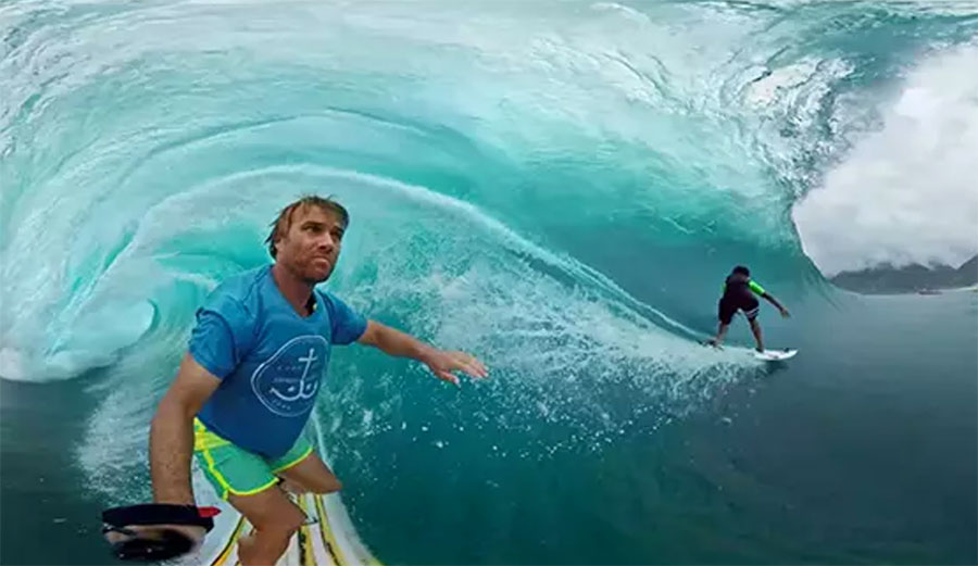 Chances are that you'll never actually get barreled in Tahiti.