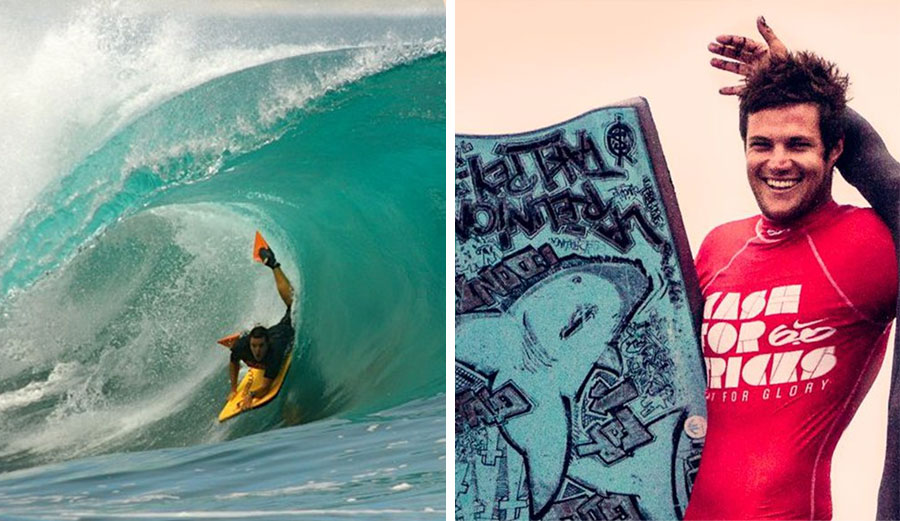 Adrien Dubosc has been killed by a shark while bodyboarding on Reunion Island. Images: Facebook