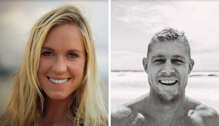Mick Fanning and Bethany Hamilton, two of surfing's most inspirational people. Photos: Surfers' Hall of Fame