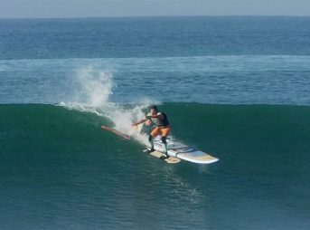 Fred Compagnon doesn't surf like everyone else.