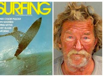 Kevin Reed, now known as Kevin Callahan, was one of surfing's pioneers. Now, he's been arrested on suspicion of murder. Images: Surfing Magazine/Santa Cruz Sentinel