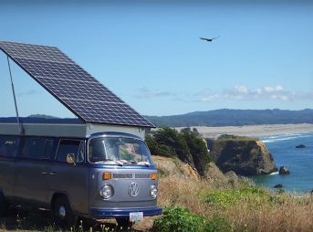 Brett Belan took a 1973 Volkswagen bus and made it into a solar-electric vehicle.