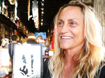 Lisa Andersen at her Roxy Collection celebration at the Laguna Quiksilver Store. Photo: The Inertia/Romero