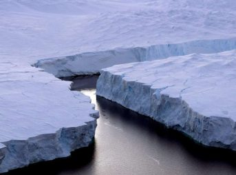 A piece of the Larsen Ice Shelf snapped off, creating one of the largest icebergs ever recorded. Image: EPA