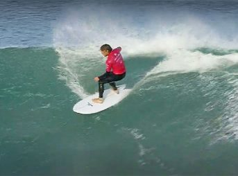 A twin fin contest at J-Bay with Conner Coffin, Jordy Smith, Matt Wilkinson, and Sebastian Zietz. Yes, please.