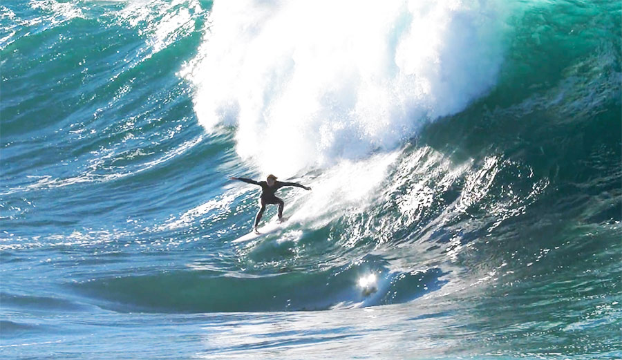 In some cases, the lumps and bumps on a wave make the jump to something a little more hazardous.