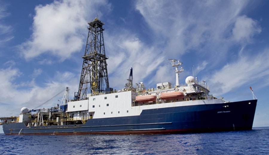 The team will use a vessel similar to this one to drill into Zealandia. Image: International Ocean Discovery Program