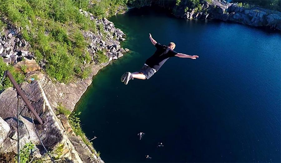 This 91-Foot Swan Dive Is the Gnarliest Cliff Dive Ever