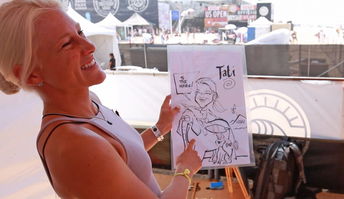 We Had a Caricature Artist Draw a Bunch of Pro Surfers at the US