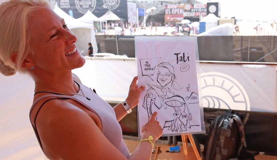 Tatiana Weston-Webb loves a good caricature. And elephant. Photo: The Inertia/Alex Smolowe