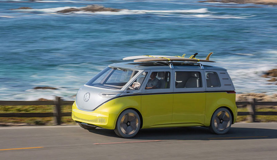 The new Volkswagen bus will be on the market in 2022.