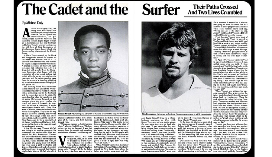 """""""The Cadet and the Surfer"""" ran in a 1982 issue of New York Magazine."""