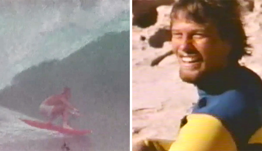 Rick Rasmussen at Uluwatu and post-session J-Bay.
