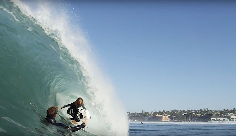 Getting the shot with Rob Machado and Todd Glaser
