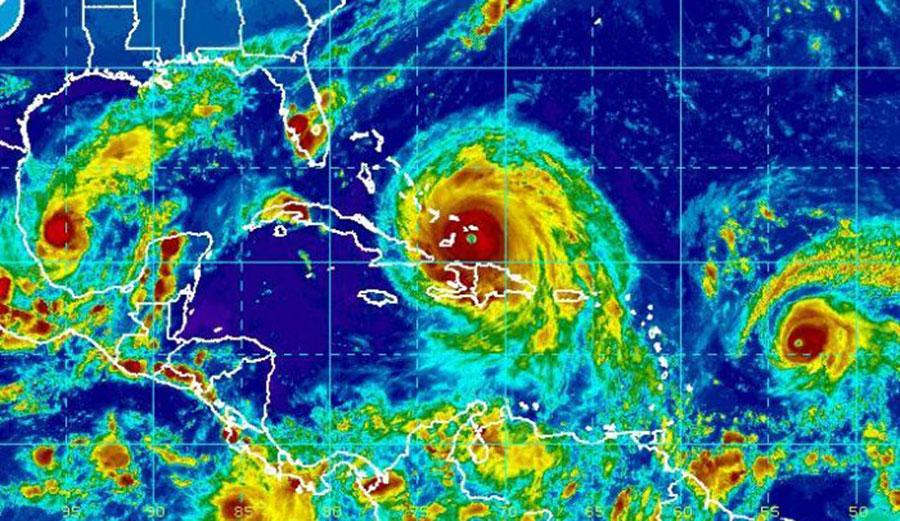 From the left: Hurricanes Katia, Irma and Jose. Photo: NESDIS
