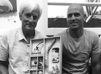 Mark Cunningham and Kelly Slater. Photo: The Inertia/Weisberg