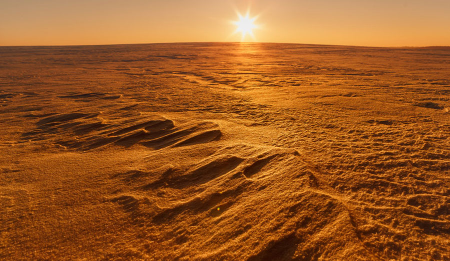 There is water on Mars, but it's buried and frozen. Photo: Shutterstock