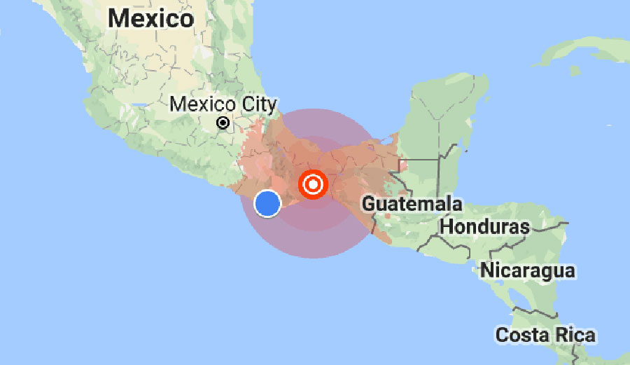 A pair of earthquakes struck the southern part of Mexico early Saturday morning.