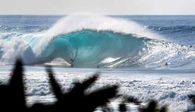 Pop quiz: How big is this wave? Photo: Jake Marote
