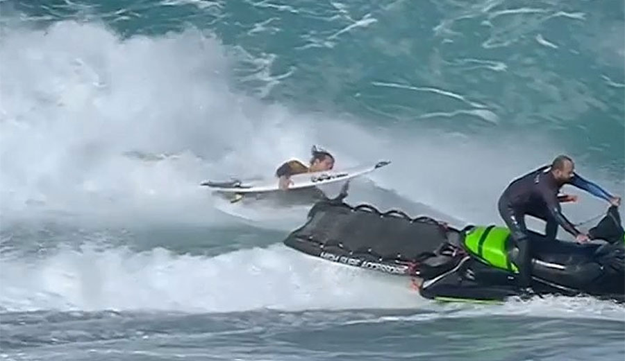 Watch Jordy Smith Fly Off A Jet Ski In France The Inertia