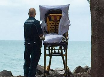 Two paramedics fulfilled a dying woman's wish to see the ocean one last time.