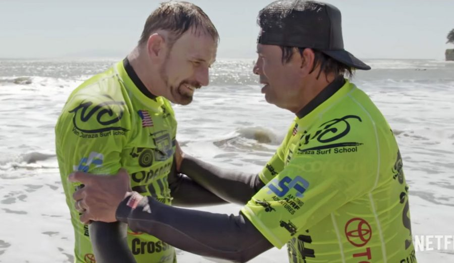 Resurface looks like a powerful film about using surfing to rehabilitate war veterans.