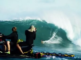 Next level Peahi. Next level surfing. Next level wipeouts.