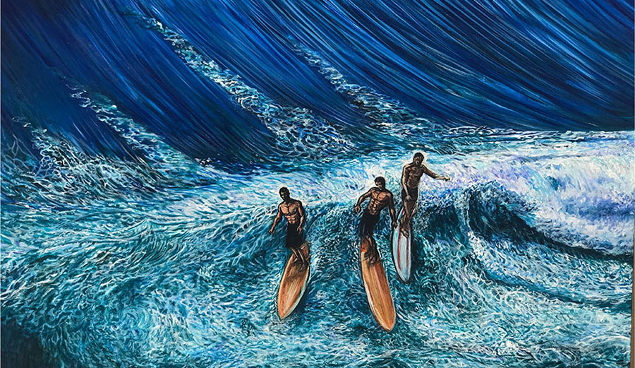 Joshua Ben Paskowitz is a surfer and a painter. He is the last son of Doc Dorian Paskowitz, surfer and doctor. This is his art and his story.