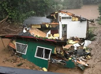 A home on Kauai, washed away by historic flooding. Photo: GoFundMe