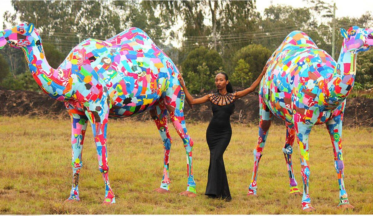 b8b01f2b9 This Kenyan Group Is Turning Discarded Flip Flops Into Amazing Works of Art