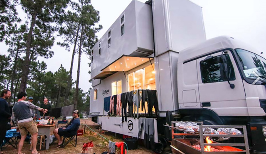 This New Mobile Surf Motel Allows You to Wake Up at the Beach
