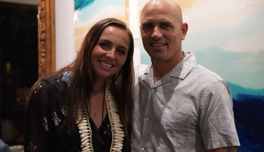Photo of Kelly Slater  & his  Daughter  Taylor Slater