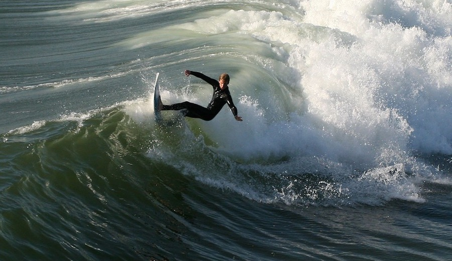 If you found yourself surfing in California today, you may have inadvertently celebrated a statewide holiday. Photo: Pixabay