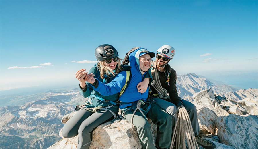 "Andrew ""Ducky"" Harris, Max Hammer, Grand Teton, climbing, down syndrome"