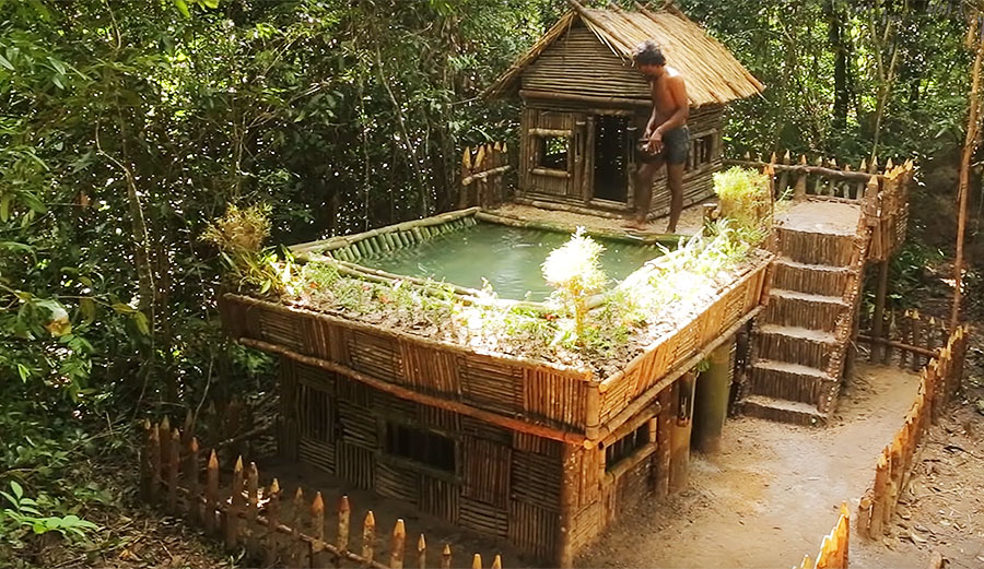 this man built the most incredible jungle house with
