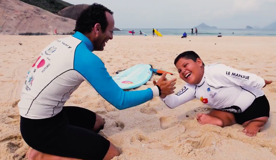 The Story Behind This 13-Year-Old Adaptive Surfer From Brazil Is So Inspiring