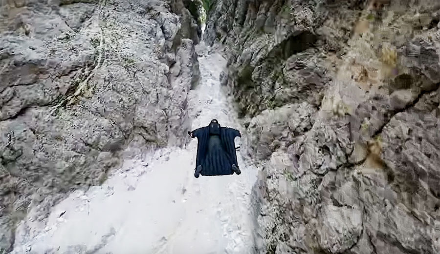 Jeb Corliss Wingsuits Through Italy's Death Star Run; Somehow Doesn't Die