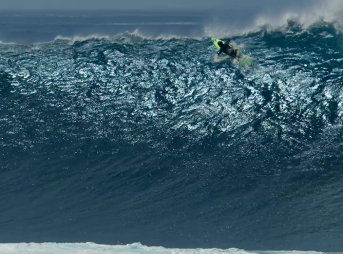 Benjamin Sanchis redefining what a close call during a paddle out looks like.