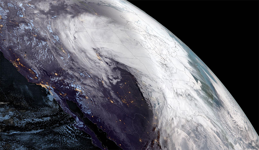 Satellite Images of the 'Bomb Cyclone' Show How Massive It Was