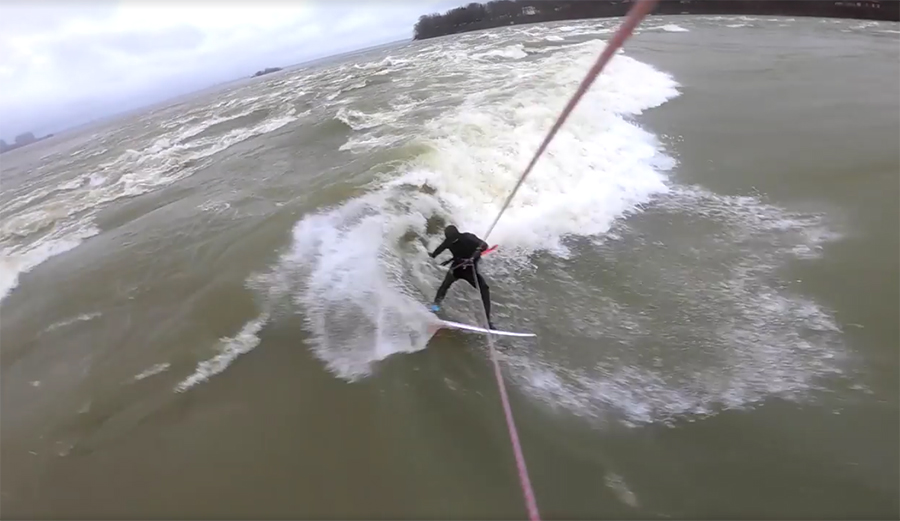 Kite Surfer Julien Fillion Shifts the Paradigm With His River Surf Segments in Montreal