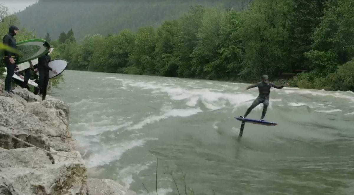 Kai Lenny Surfed His Foil Board on a River Wave in Austria (and It Worked)
