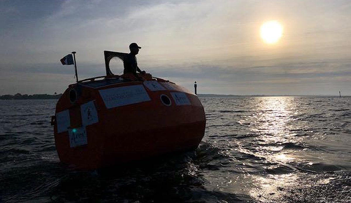 72-Year-Old French Adventurer Just Floated Across The Atlantic In a Giant Orange Barrel