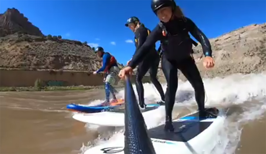 Colorado River Surfers are Celebrating This Rare Mysto Wave After Huge Winter