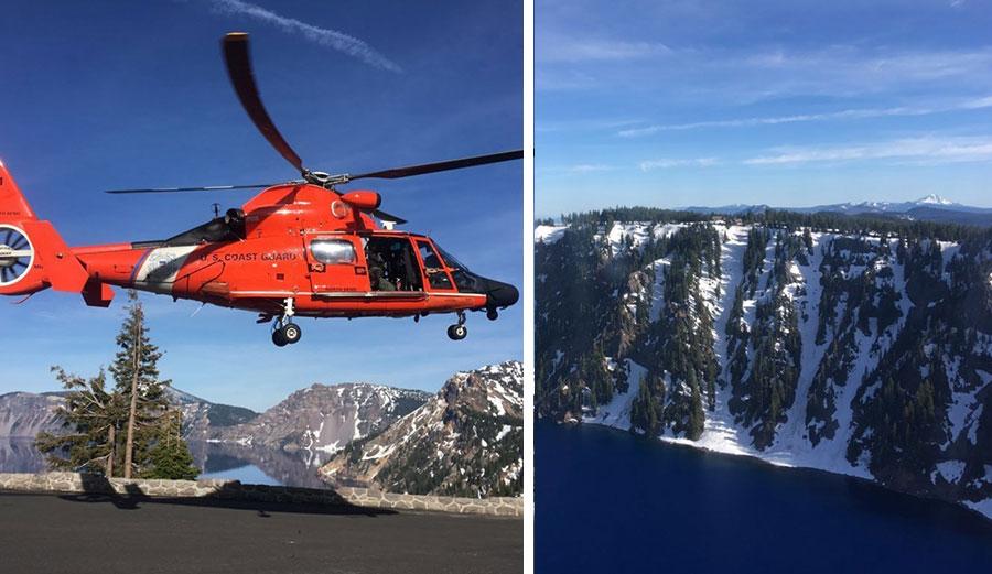 Man Falls 800 Feet Into Crater Lake Caldera and Survives