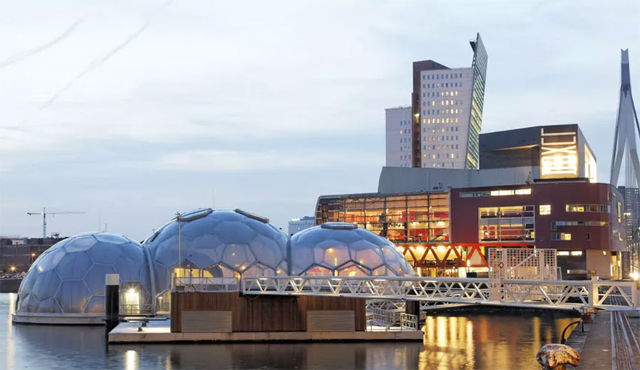 Floating Pavilion, a conference space in Rotterdam