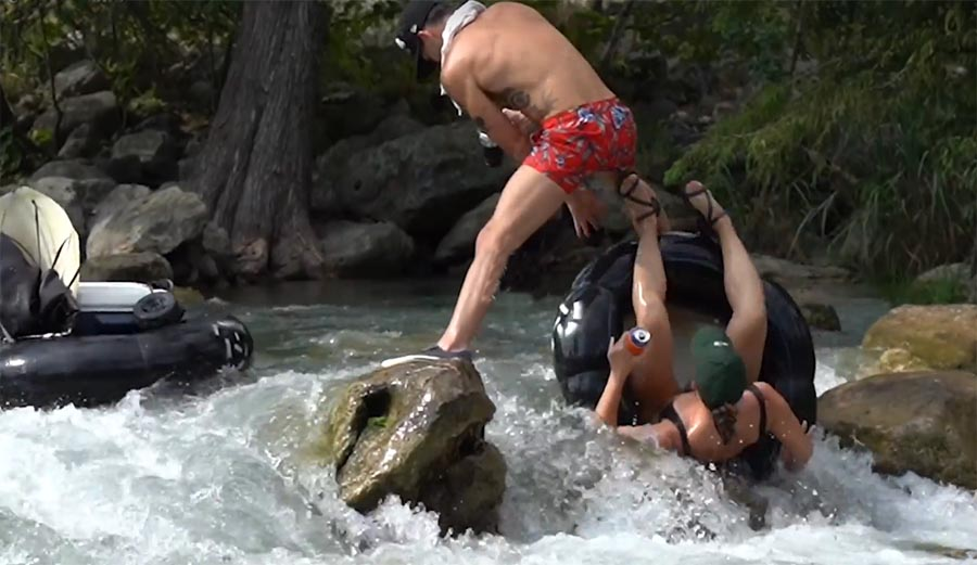 These Drunk Tubing Fails on the Guadalupe River in Texas Are Vicious