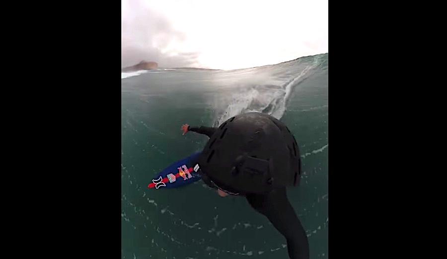 Watch Kai Lenny Tow Surf Nazaré Like He Does Life: With Pure Joy