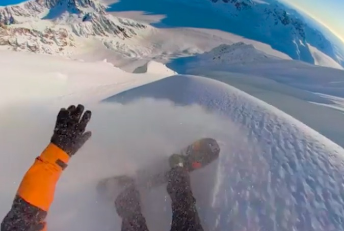 This Travis Rice Spine Line in Alaska Is Everything We Love About His Snowboarding