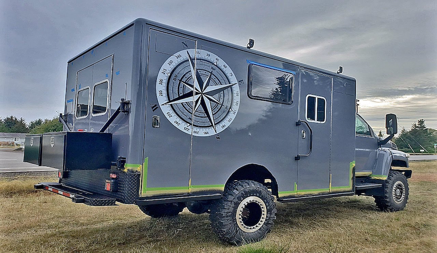 This 23-Year-Old Converted an Old Ambulance Into a Solar Off-the-Grid Home on Wheels
