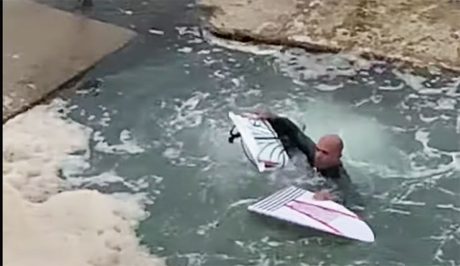 Kelly Slater Snapped a Board Surfing at Avalon Beach